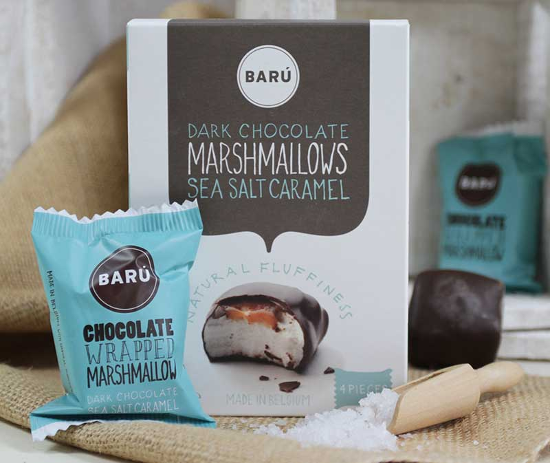 Geschenk #13 war ein Marshmallow überzogen mit belgischer Schokolade von Barú