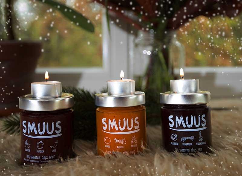Geschenk #16 war ein Glas Smoothie-Brotaufstrich von Smuus aus Hamburg