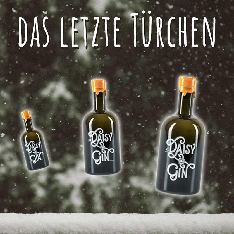 Geschenk #24 war ein Fläschchen Bio-Gänseblümchen Gin. Merry Christmas!