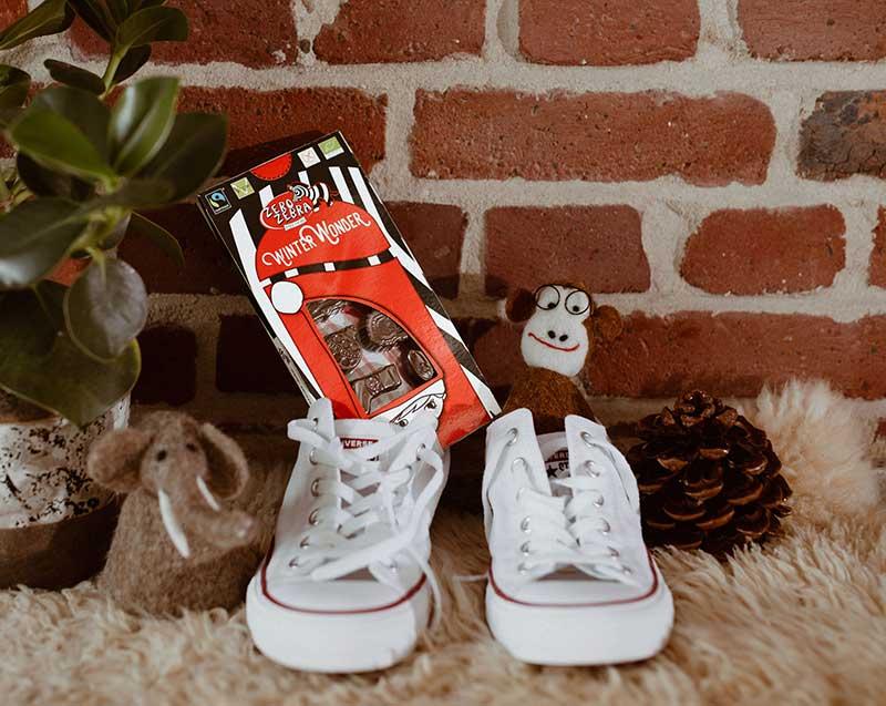 Zum Nikolaus verbarg sich hinter Geschenk #6 die leckere vegane Schokolade von Zero Zebra